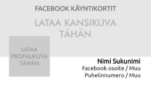 Facebook-käyntikortit